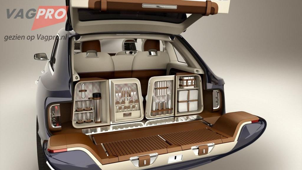 Inhoud opties voor de achterklep van de Bentley SUV
