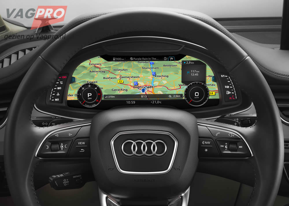 Audi Q7 virtual cockpit dashboard